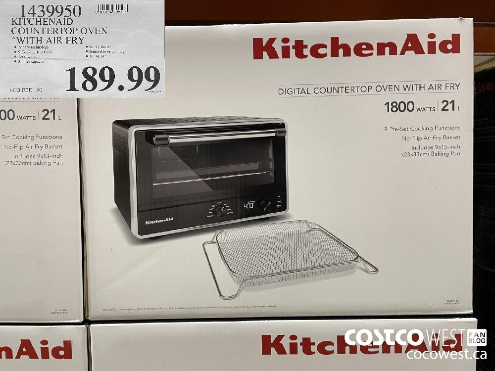 1439959 KITCHENAID COUNTERTOP OVEN WITH AIR FRY $189.99