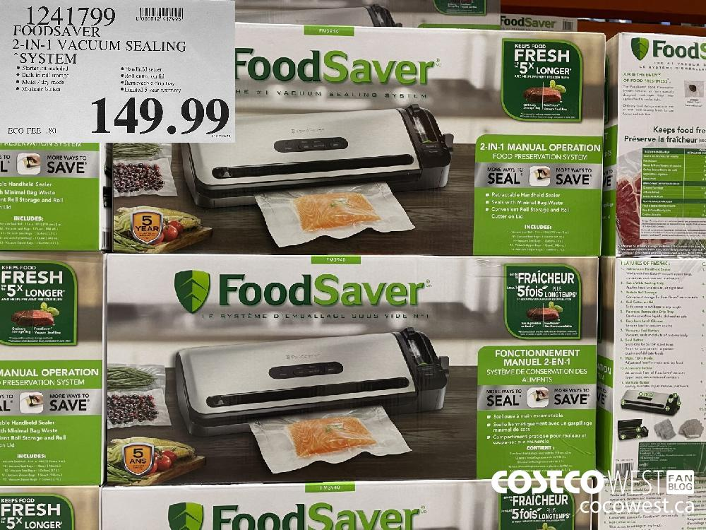1241799 FOODSAVER 2-IN-1 VACUUM SEALING SYSTEM $149.99