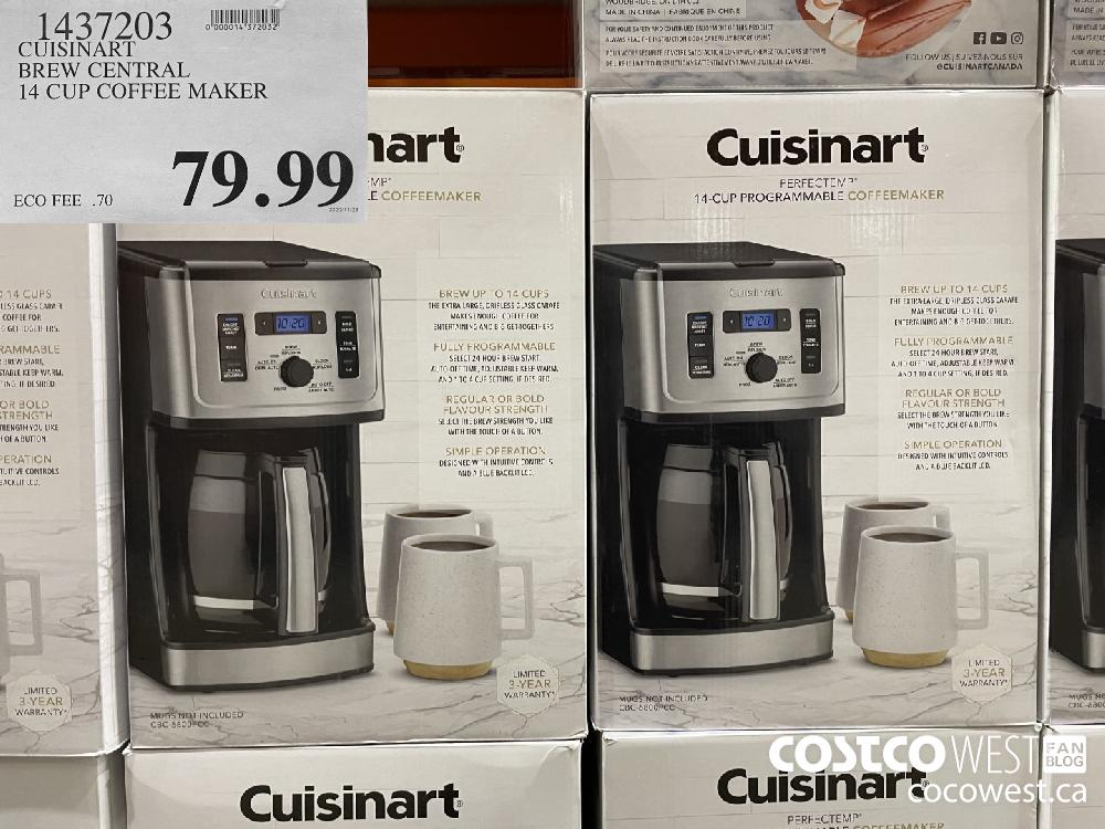 1437203 CUISINART BREW CENTRAL 14 CUP COFFEE MAKER $79.99