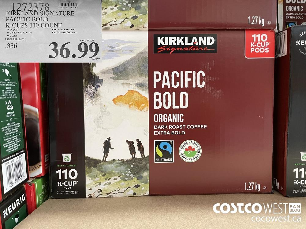 1279378 KIRKLAND SIGNATURE PACIFIC BOLD K-CUPS 110 COUNT $36.99