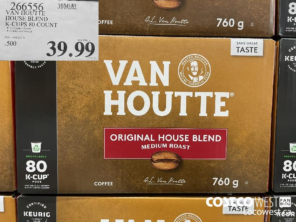 266556 VAN HOUTTE HOUSE BLEND K-CUPS 80 COUNT $39.99