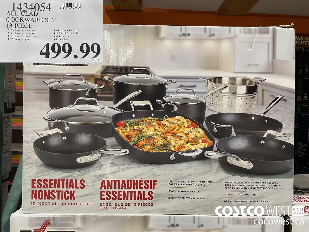1434054 ALL CLAD COOKWARE SET 13 PIECE $499.99