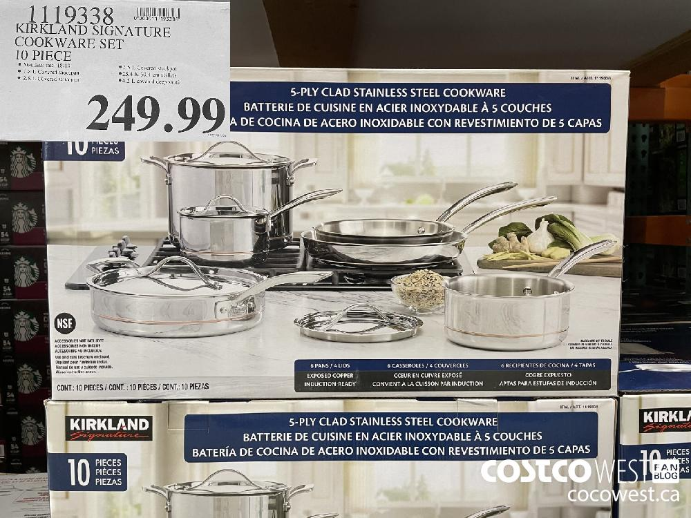 1119338 KIRKLAND SIGNATURE COOKWARE SET 10 PIECE $249.99