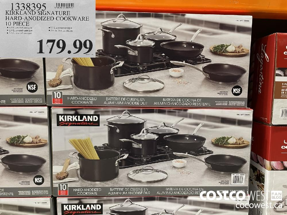 1338395 KIRKLAND SIGNATURE HARD-ANODIZED COOKWARE 10 PIECE $179.99