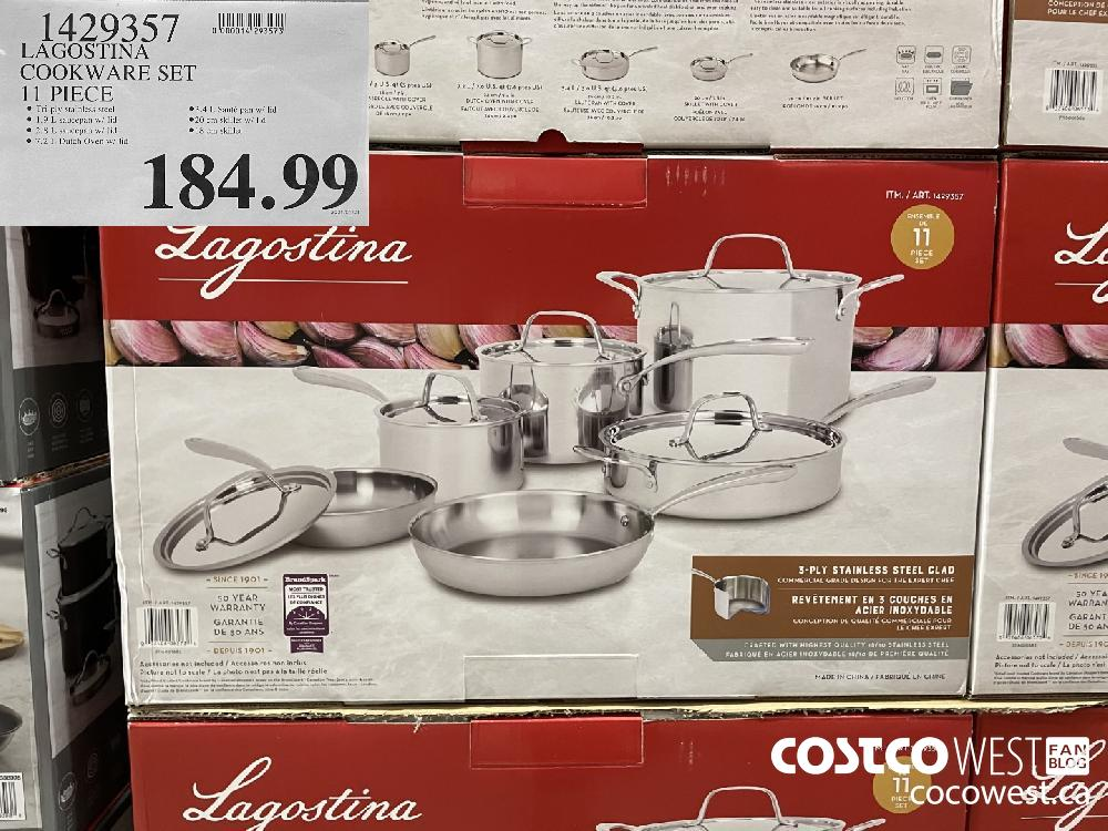 1429357 LAGOSTINA COOKWARE SET 11 PIECE $184.99