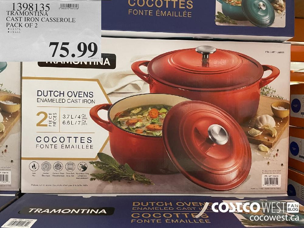 1398135 TRAMONTINA CAST IRON CASSEROLE PACK OF 2 $75.99