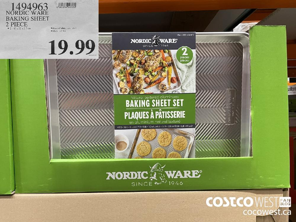 1494963 NORDIC WARE BAKING SHEET 2 PIECE $19.99