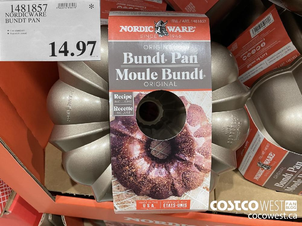 1481857 NORDICWARE BUNDT PAN $14.97