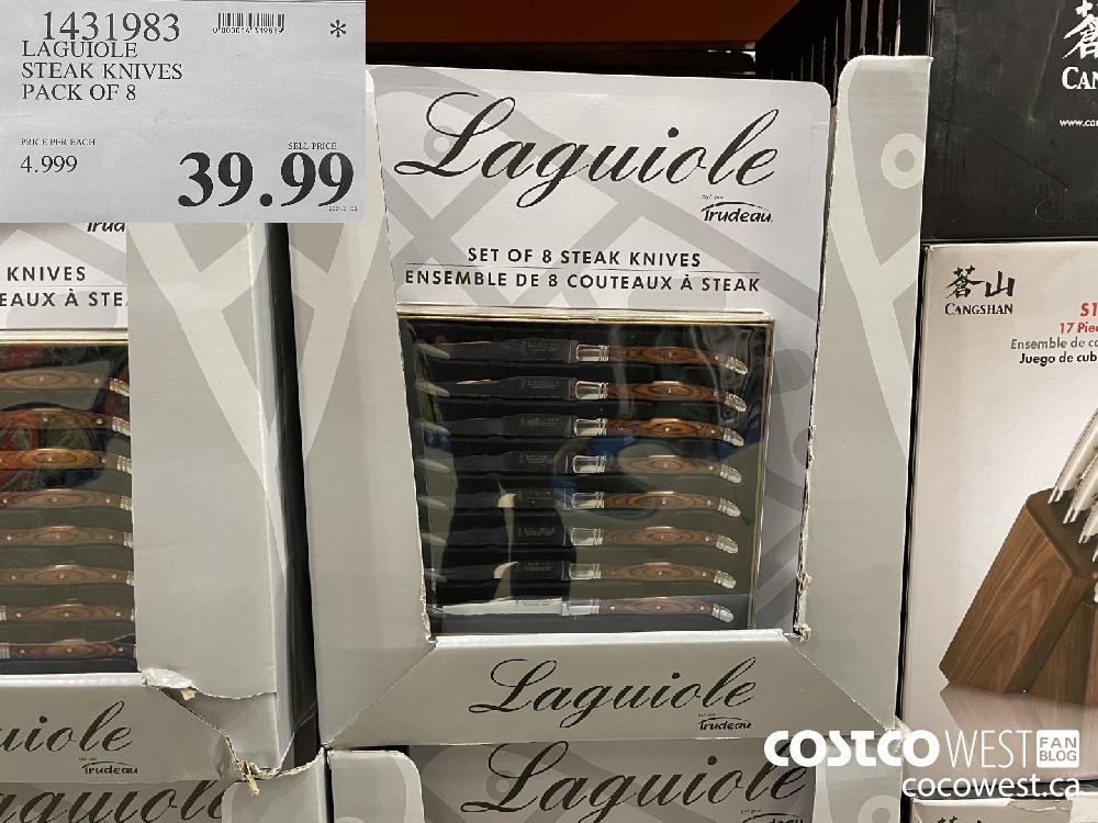 1431983 LAGUIOLE STEAK KNIVES PACK OF 8 $39.99