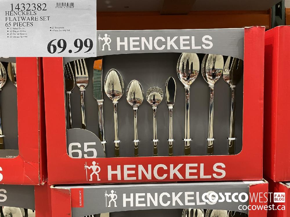 1432339 HENCKELS FLATWARE SET 65 PIECES $69.99
