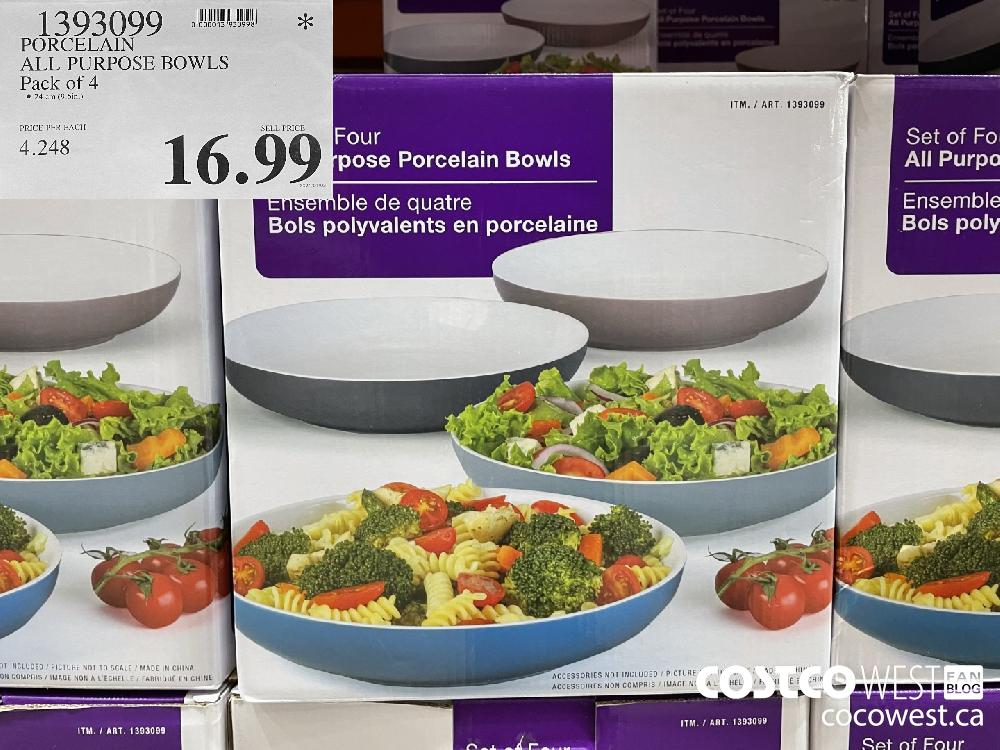 1393099 PORCELAIN ALL PURPOSE BOWLS Pack of 4 $16.99