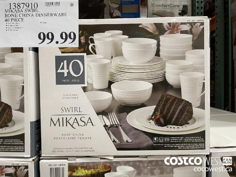 4387910 MIKASA SWIRL BONE CHINA DINNERWARE 40 PIECE $99.99