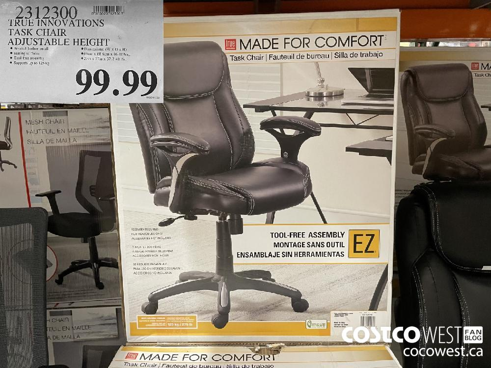 2312300 TRUE INNOVATIONS TASK CHAIR ADJUSTABLE HEIGHT $99.99