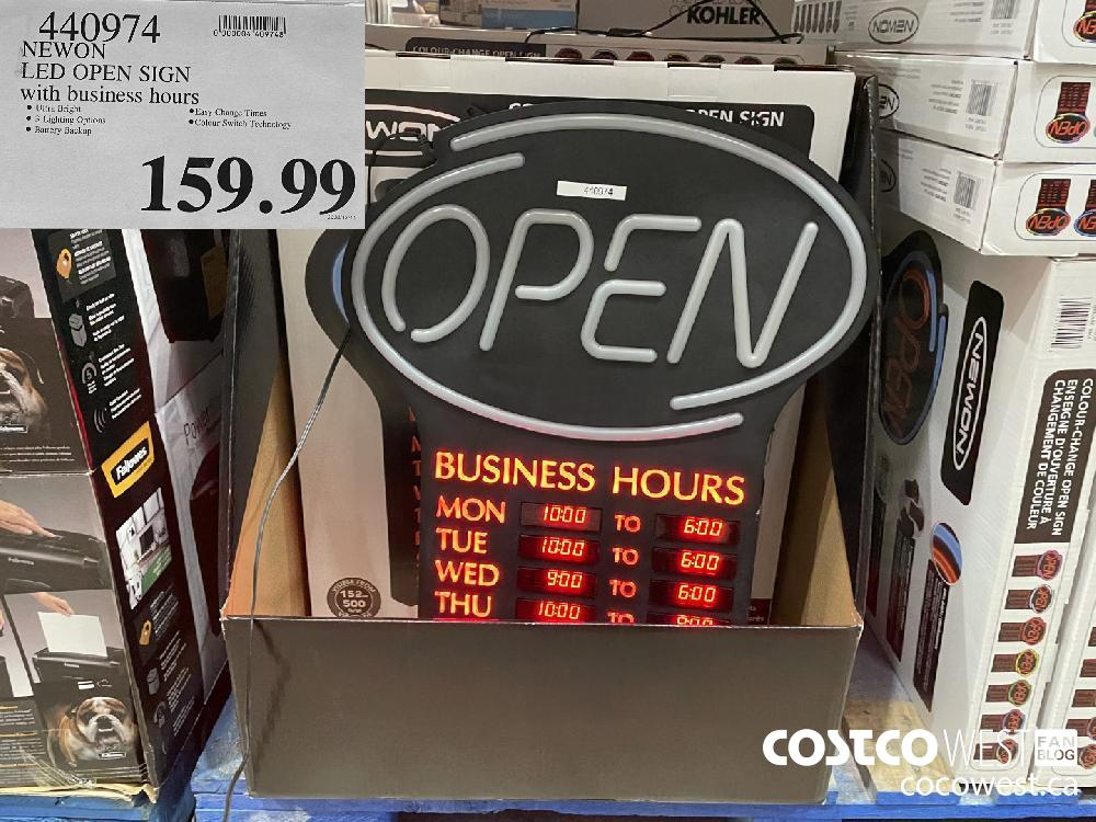 440974 NEWON LED OPEN SIGN $159.99