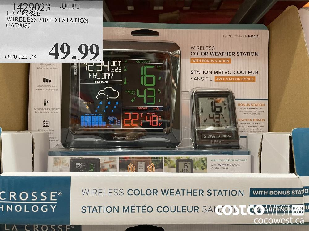 1429023 LA CROSSE WIRELESS METEO STATION CA79080 $49.99