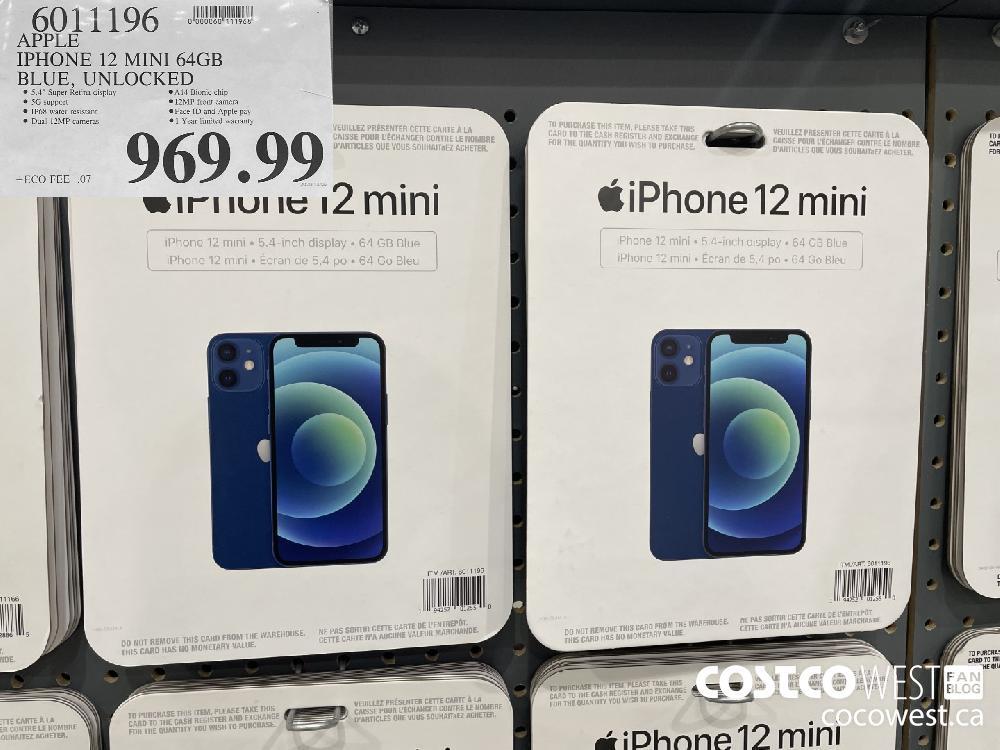6011196 APPLE IPHONE 12 MINI 64GB BLUE UNLOCKED $969.99