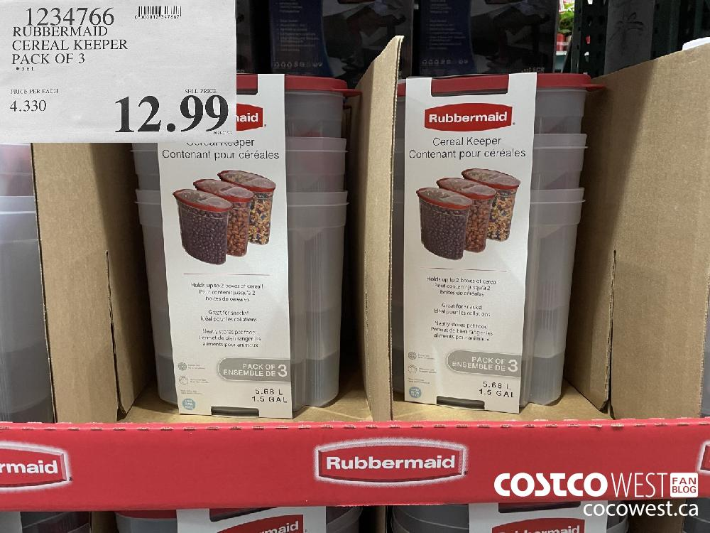 1934766 RUBBERMAID CEREAL KEEPER PACK OF 3 $12.99