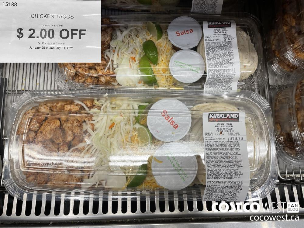 15188 CHICKEN TACOS Less In-Store Rebate $ 2.00 OFF Per Package at Register January 25 to January 31 2021