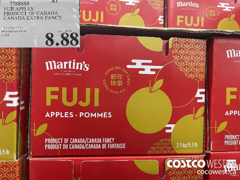 7788888 FUJI APPLES PRODUCT OF CANADA CANADA EXTRA FANCY $8.88