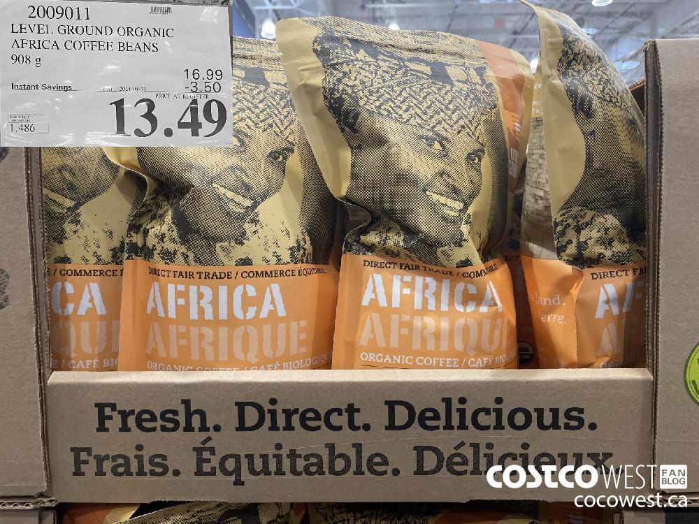 2009011 LEVEL GROUND ORGANIC AFRICA COFFEE BEANS 908 g EXPIRY DATE: 2021-01-31 $13.49