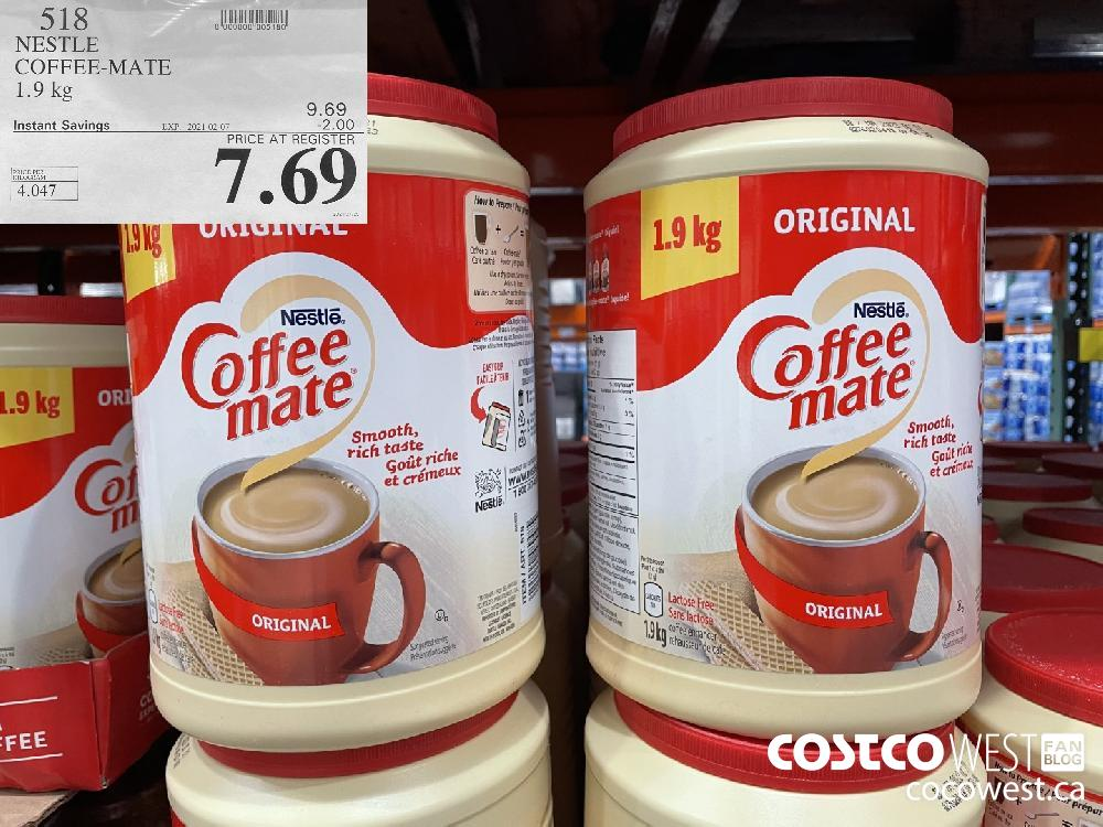 518 NESTLE COFFEE-MATE 1.9 kg EXPIRY DATE: 2021-02-07 $7.69