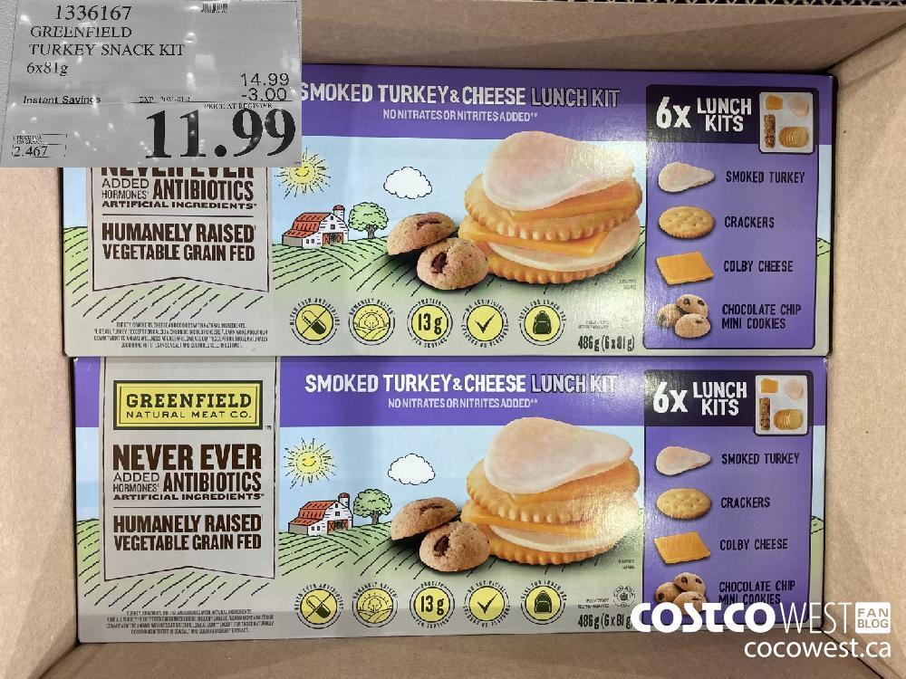 1336167 GREENFIELD TURKEY SNACK KIT 6x81g EXPIRY DATE: 2021-01-31 $11.99