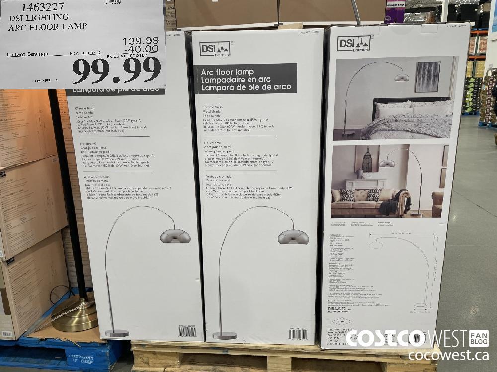 1463227 DSI LIGHTING ARC FLOOR LAMP EXPIRY DATE: 2021-02-07 $99.99