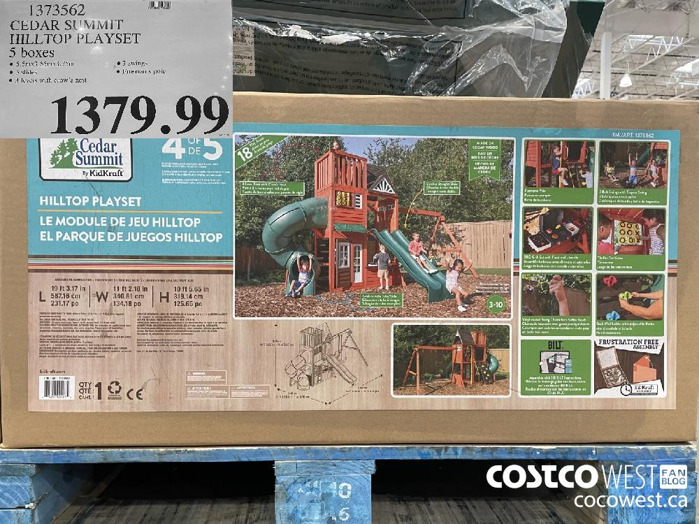 91373562 CEDAR SUMMITHILLTOP PLAYSET5 boxes$1379.99