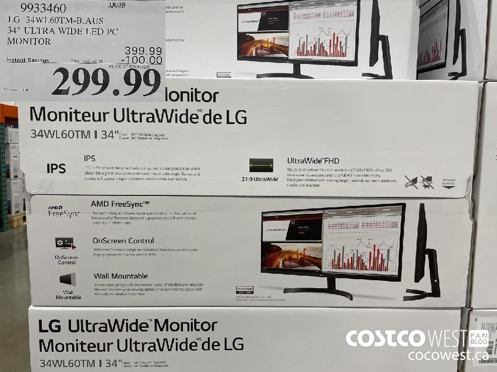 9933460 LG 34WL60TM-B.AUS 34″ ULTRA WIDE LED PC MONITOR EXPIRY DATE:IRY DATE: 2021-02-28 $299.99