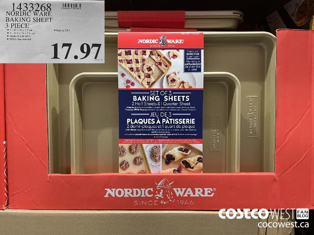 1433268 NORDIC WARE BAKING SHEET 3 PIECE $17.97