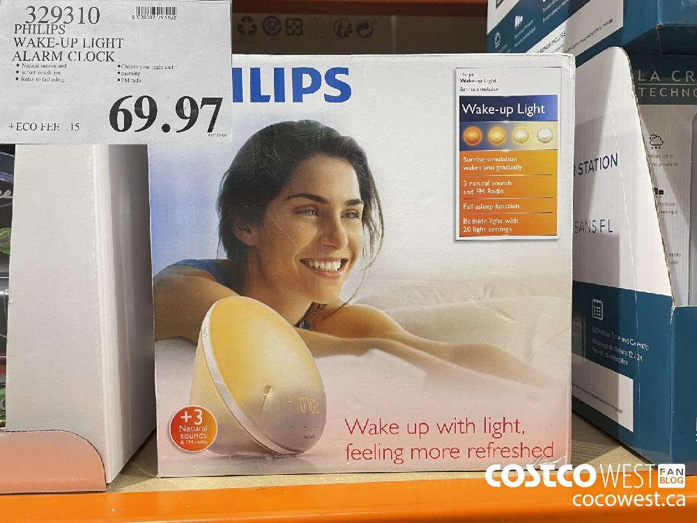 329310 PHILIPS WAKE-UP LIGHT ALARM CLOCK $69.97