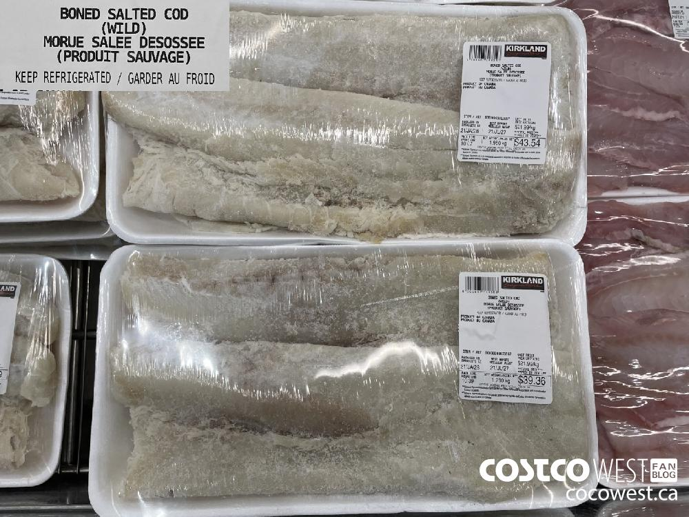 BONED SALTED COD (WILD) KEEP REFRIGERATED / GARDER AU FROID