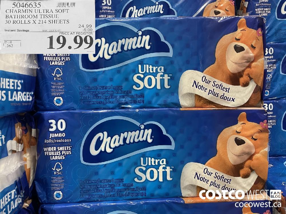 5046635 CHARMIN ULTRA SOFT BATHROOM TISSUE 30 ROLLS X 214 SHEETS EXPIRY DATE:IRY DATE: 2021-02-07 $19.99