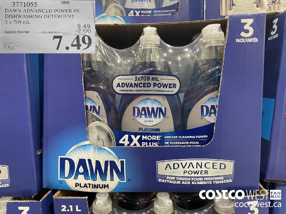 3771055 DAWN ADVANCED POWER 4X DISHWASHING DETERGENT 3 x 709 mL EXPIRY DATE:IRY DATE: 2021-02-14 $7.49