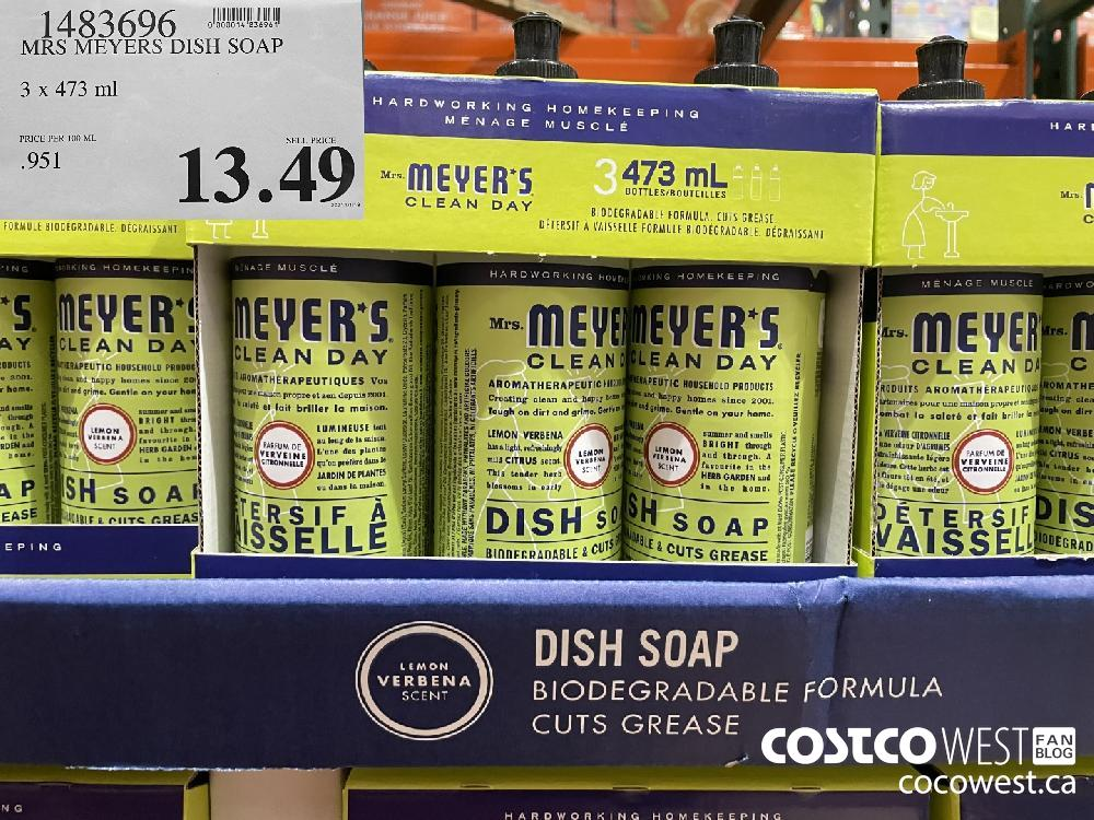 1483696 MRS MEYERS DISH SOAP 3 x 473 ml $13.49