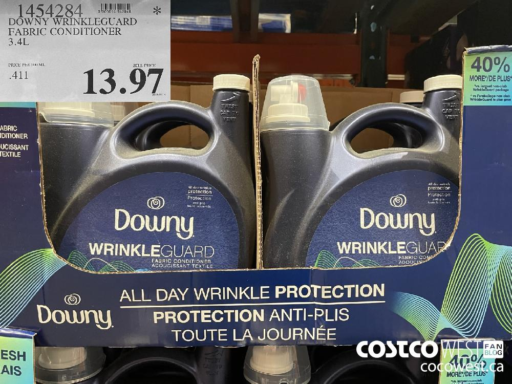 1454284 DOWNY WRINKLEGUARD FABRIC CONDITIONER 3.4L $13.97