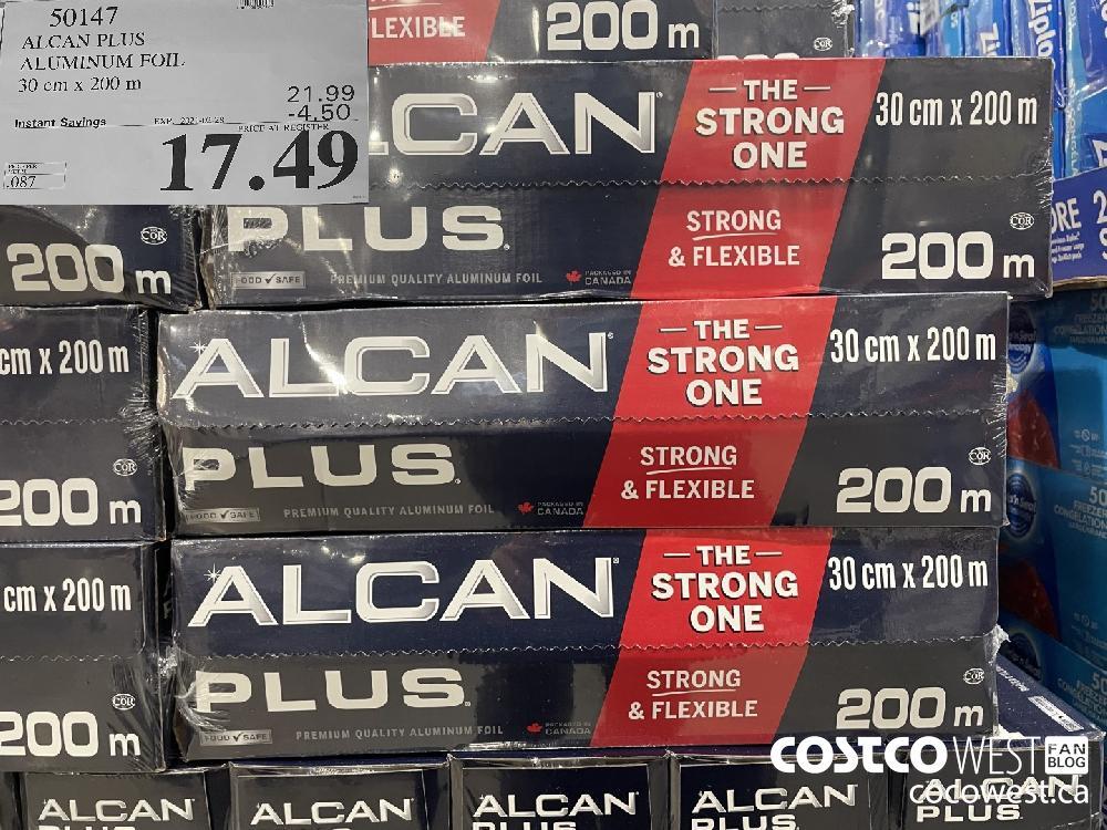 50147 ALCAN PLUS ALUMINUM FOIL 30 cm x 200 m EXPIRY DATE:IRY DATE: 2021-02-28 $17.49