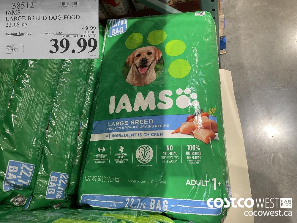 38512 IAMS LARGE BREED DOG FOOD 22.68 kg EXPIRY DATE:IRY DATE: 2021-02-28 39.99