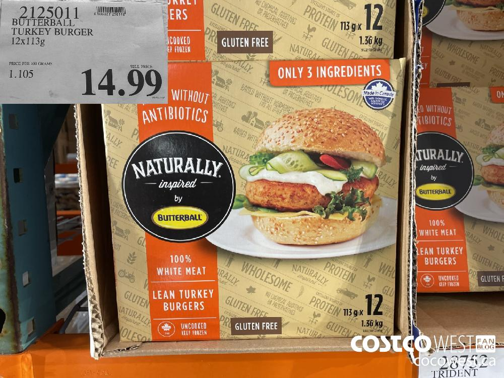 2125011 BUTTERBALL TURKEY BURGER 12x113g $14.99