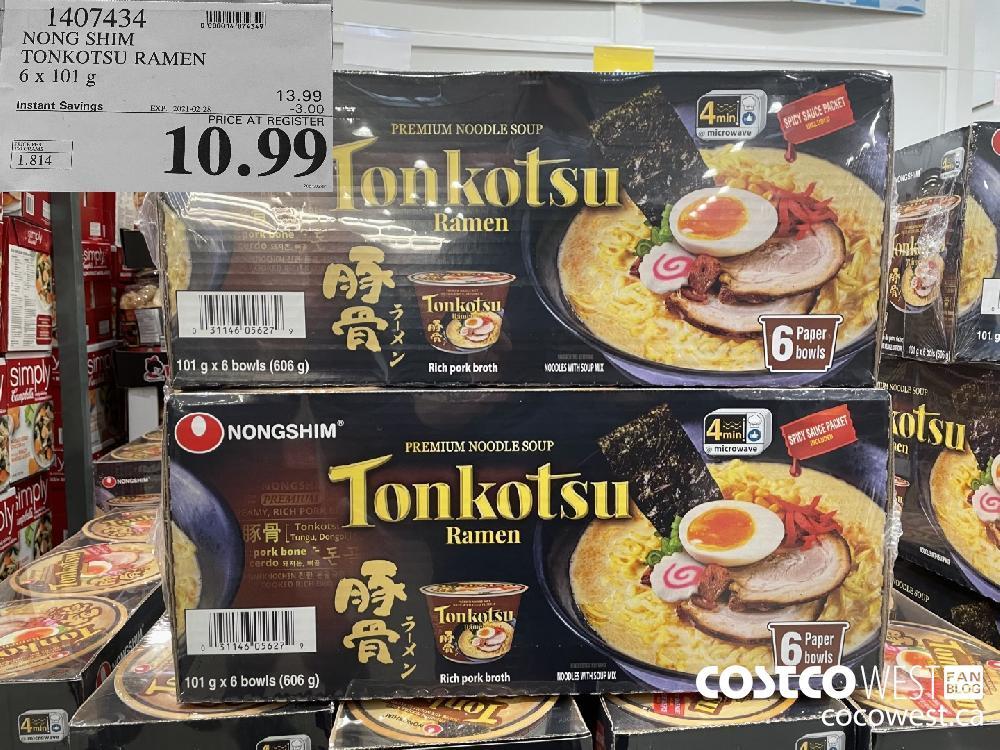 1407434 NONG SHIM TONKOTSU RAMEN 6x 101 g EXPIRY DATE:IRY DATE: 2021-02-28 $10.99