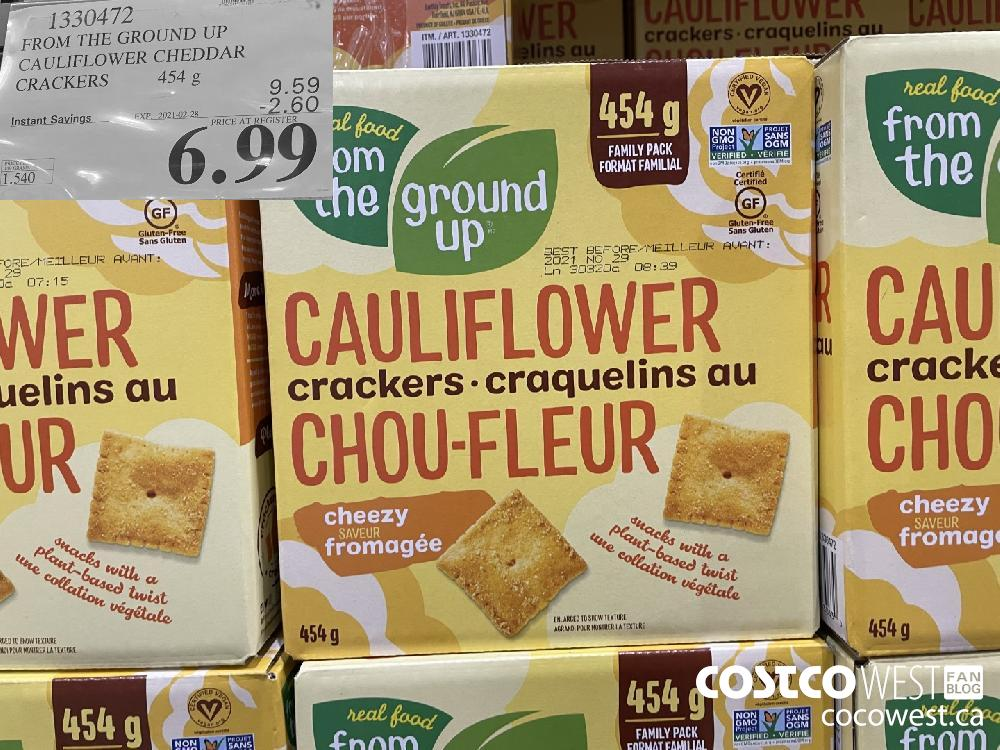 1330472 FROM THE GROUND UP CAULIFLOWER CRACKERS EXPIRY DATE:IRY DATE: 2021-02-28 $6.99