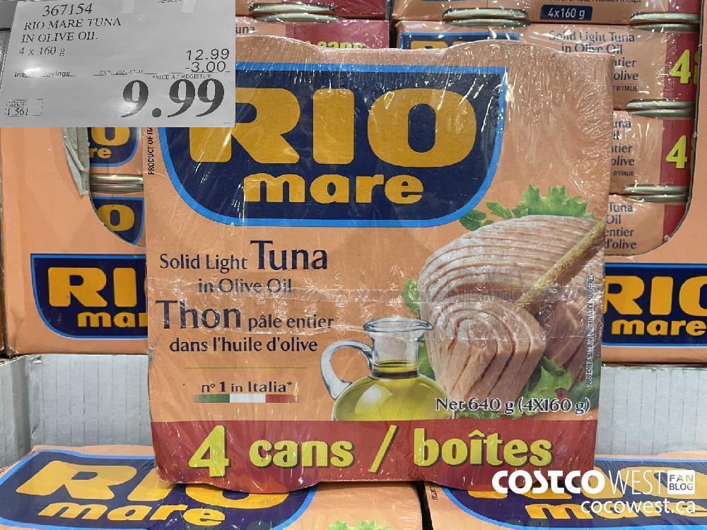 367154 RIO MARE TUNA IN OLIVE OIL 4 x 160 g EXPIRY DATE:IRY DATE: 2021-02-28 $9.99