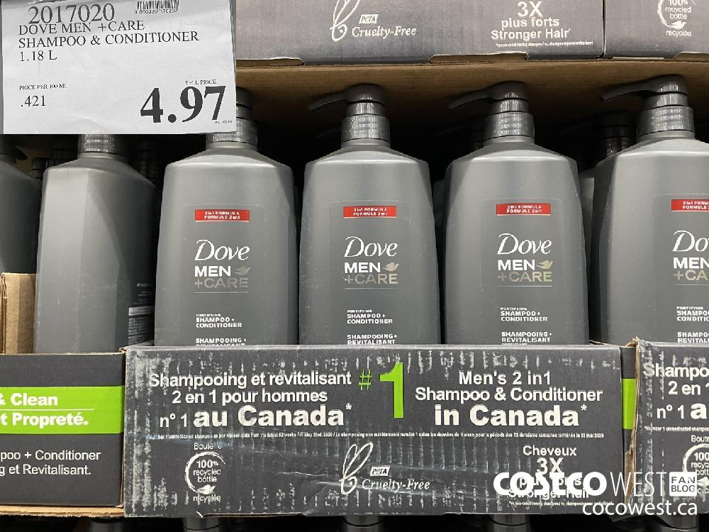 9017020 DOVE MEN CARE SHAMPOO 1.18 L $4.97