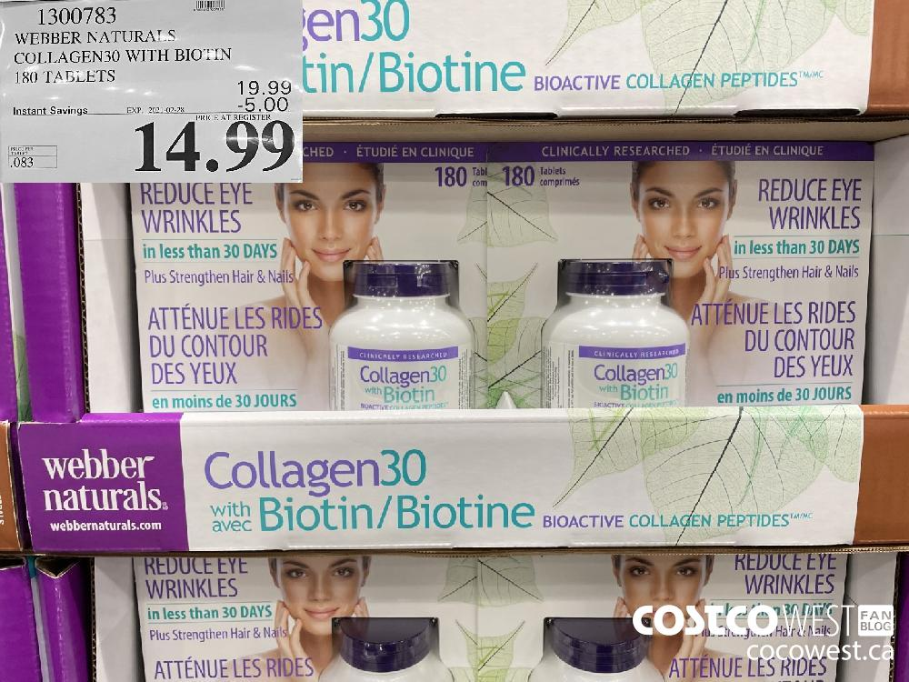1300783 WEBBER NATURALS COLLAGEN30 WITH BIOTIN 180 TABLETS EXPIRY DATE:IRY DATE: 2021-02-28 $14.99
