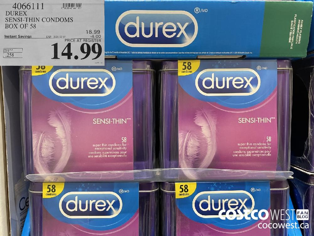 4066111 DUREX SENSI-THIN CONDOMS BOX OF 58 EXPIRY DATE:IRY DATE: 2021-02-07 $14.99