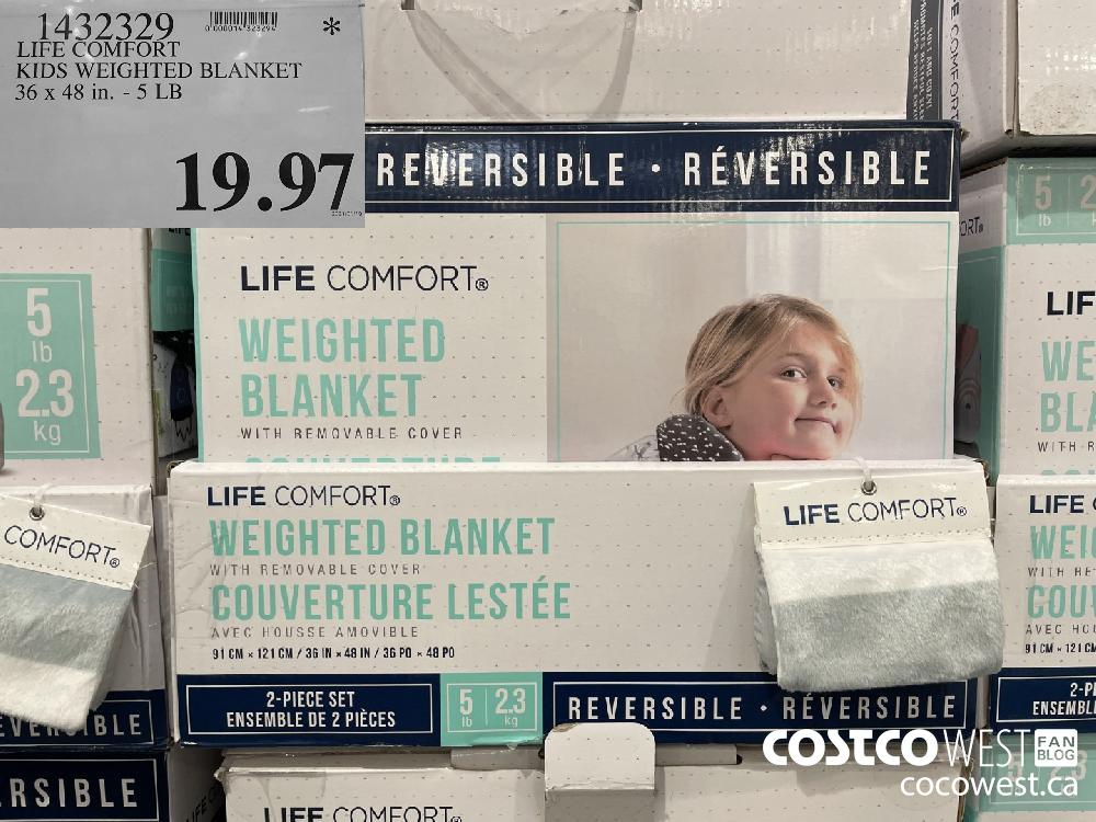 1432329 LIFE COMFORT KIDS WEIGHTED BLANKET 36 x 48 in. -5 LB $19.97