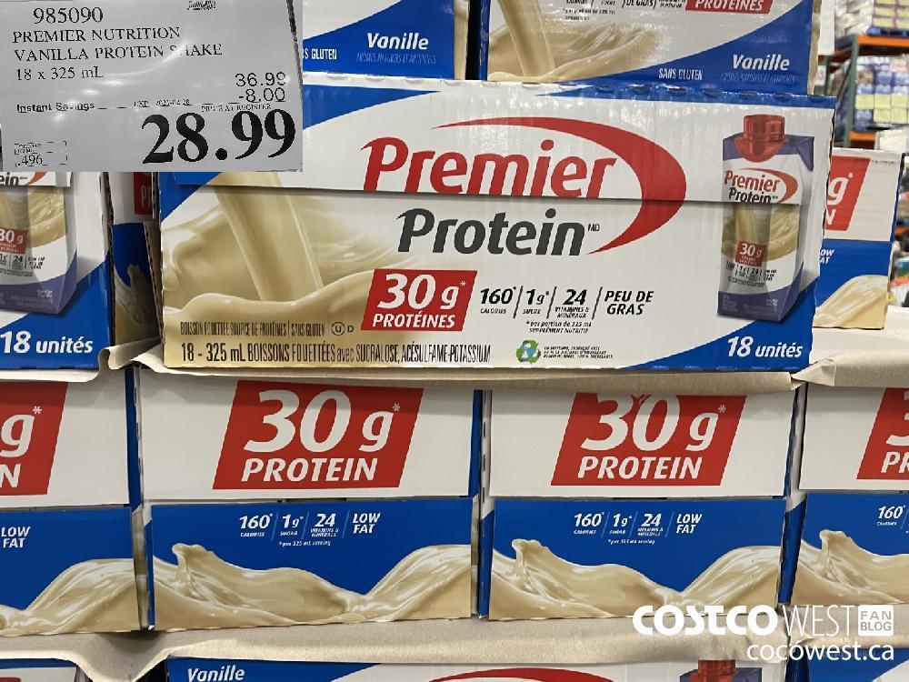 985090 PREMIER NUTRITION VANILLA PROTEIN SHAKE 18 x 325 mL EXPIRY DATE:IRY DATE: 2021-02-28 $28.99