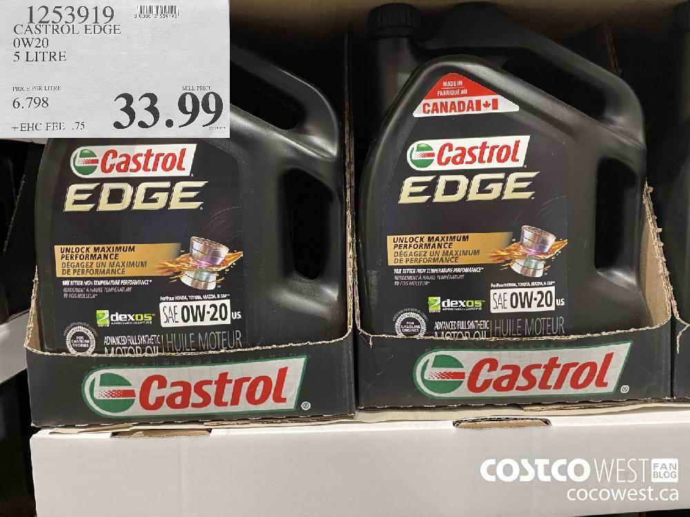 1253919 CASTROL EDGE OW 20 5 LITRE $33.99