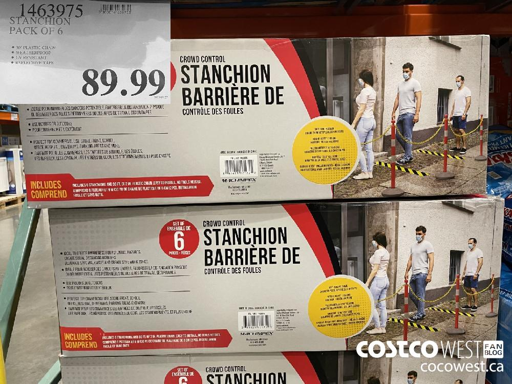 1463975 STANCHION PACK OF 6 $89.99