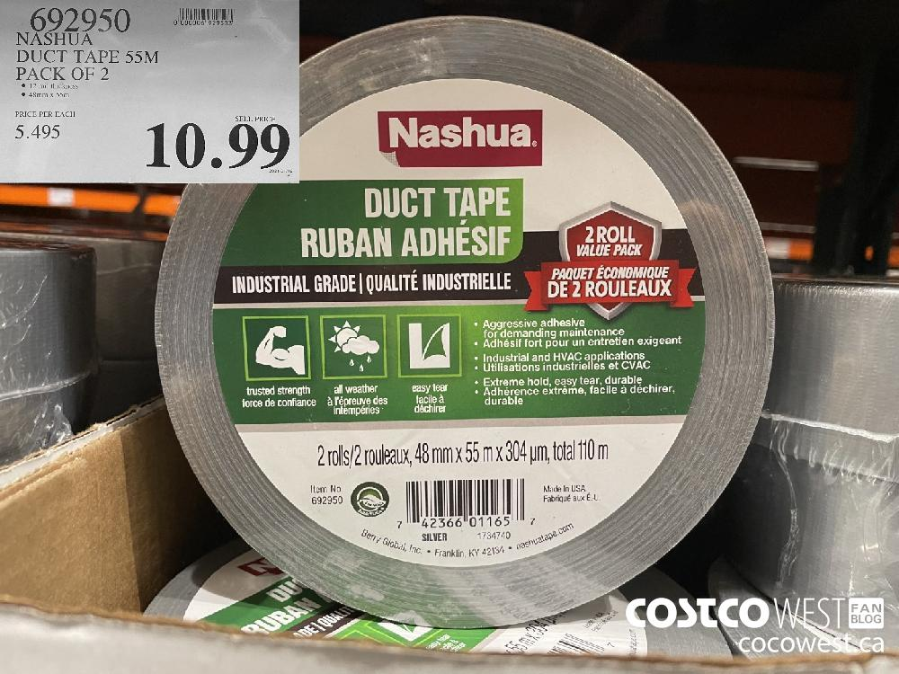 692950 NASHUA DUCT TAPE 55M PACK OF 2 $10.99